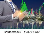 gas and crude oil stock market... | Shutterstock . vector #598714130
