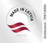 made in latvia transparent logo ... | Shutterstock .eps vector #598718984