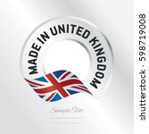 made in uk transparent logo... | Shutterstock .eps vector #598719008
