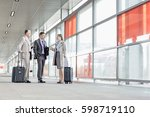 full length of businesspeople... | Shutterstock . vector #598719110