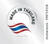 made in thailand transparent... | Shutterstock .eps vector #598719218