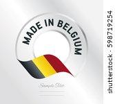 made in belgium transparent...   Shutterstock .eps vector #598719254