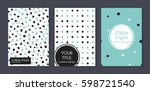 covers with flat geometric... | Shutterstock .eps vector #598721540