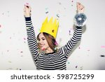 birthday party  new year... | Shutterstock . vector #598725299