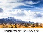spring landscape in poland... | Shutterstock . vector #598727570