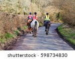 Three Female Horse Riders On A...