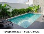 swimming pool beautiful in...   Shutterstock . vector #598735928