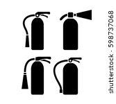 fire extinguisher vector eps... | Shutterstock .eps vector #598737068