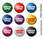 set of colored round buttons... | Shutterstock .eps vector #598738580