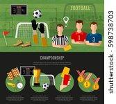 soccer infographic  football... | Shutterstock .eps vector #598738703