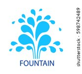 vector icon fountain. logo... | Shutterstock .eps vector #598742489