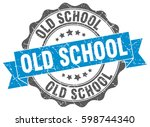 old school. stamp. sticker.... | Shutterstock .eps vector #598744340