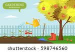 garden colorful designs... | Shutterstock .eps vector #598746560