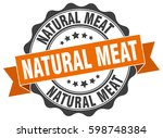 natural meat. stamp. sticker.... | Shutterstock .eps vector #598748384