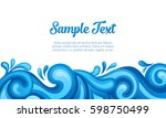 blue sea waves background.... | Shutterstock .eps vector #598750499