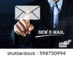 business concept   hand of a... | Shutterstock . vector #598750994