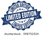 limited edition. stamp. sticker.... | Shutterstock .eps vector #598752524