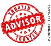 trusted advisor business rubber ... | Shutterstock .eps vector #598753088