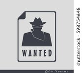 wanted poster icon art. | Shutterstock .eps vector #598754648