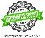 information society. stamp.... | Shutterstock .eps vector #598757774