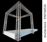steel truss girder rooftop... | Shutterstock . vector #598768520