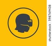 virtual reality icon in circle  ...