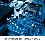 electronic device factory... | Shutterstock . vector #598771979