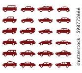 car icons set   Shutterstock .eps vector #598772666