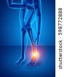 3d illustration of male foot...   Shutterstock . vector #598772888