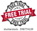 free trial. stamp. sticker.... | Shutterstock .eps vector #598774139