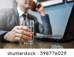 close up asian businessman in... | Shutterstock . vector #598776029