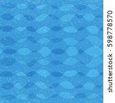blue sea waves pattern grunge... | Shutterstock .eps vector #598778570