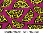 hand drawn doodle pattern with... | Shutterstock .eps vector #598782350
