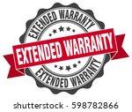 extended warranty. stamp.... | Shutterstock .eps vector #598782866