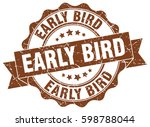 early bird. stamp. sticker.... | Shutterstock .eps vector #598788044