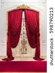 Red Luxury Satin Curtain