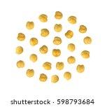 roasted crispy chickpeas or... | Shutterstock . vector #598793684