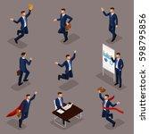 trendy isometric people  3d... | Shutterstock .eps vector #598795856