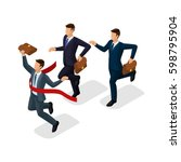 trendy isometric people  3d... | Shutterstock .eps vector #598795904