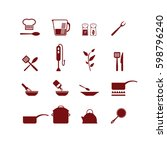 cooking icons set. vector. | Shutterstock .eps vector #598796240