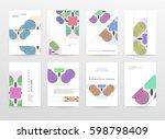 memphis geometric background... | Shutterstock .eps vector #598798409