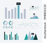 data analysis graph and chart... | Shutterstock .eps vector #598802120