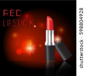 attractive lipstick package... | Shutterstock .eps vector #598804928