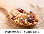 close up granola or muesli in... | Shutterstock . vector #598811318