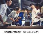 crew of skills talented... | Shutterstock . vector #598811924
