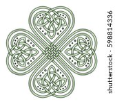 lucky four leaf clover in the... | Shutterstock .eps vector #598814336