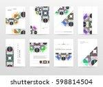 memphis geometric background... | Shutterstock .eps vector #598814504