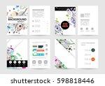 memphis geometric background... | Shutterstock .eps vector #598818446