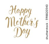 happy mother's day. holiday... | Shutterstock .eps vector #598820540