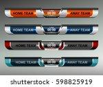scoreboard broadcast graphic... | Shutterstock .eps vector #598825919
